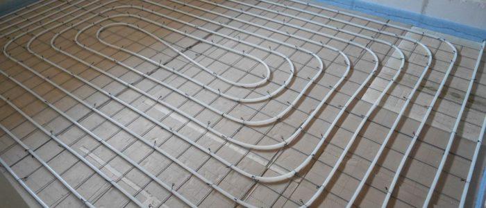 vloerverwarming op netten